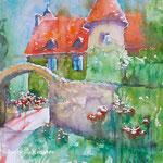 La maison d'un Rosiériste, 14 in. x 19 in. -  36 cm x 48 cm - 480,00 Euro