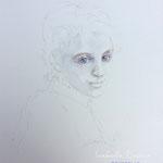Summer Dream's Eyes / 15 in. x 22 in. - 38 x 56 cm - 420,00 Euro