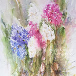 Hyacinths to feed the soul, 14,2 in. x 18,9 in. - 36 x 48 cm - 360,00 Euro