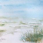 Juist Beach  5,7 in. x 22 in. - 14,5 x 20,5 cm - 180,00 Euro