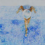 Pool Lady 15 in. x 15 in. - 39 x 39 cm - 580,00 Euro