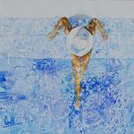 Pool Lady 15 in. x 15 in. - 39 x 39 cm - 680,00 Euro