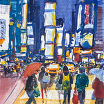 NYC City - Times Square at Night -  11,8 in. x 15,7  in. - 30 x 40 cm - 360,00 Euro