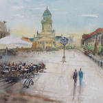 Berlin Gendarmenmarkt, 14 in x 20 in - 51 cm x 36 cm - sold -