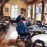 The Card Players of Cadaqués - 12 in. x 16 in. - 31 x 41 cm  - Euro 780,00