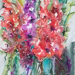 Gladioli 1, 14,2 in. x 18,9 in. - 36 x 48 cm - 400,00 Euro