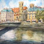 Besançon Pont Battant et St. Madeleine - 30 in. x 22 in. - 76 x 56 cm - 460,00 Euro