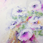 Wind kissed Anemones 14,5 in. x 11 in. - 37 x 28 cm - 520,00 Euro - sold