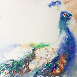 The blue Prince  14,5 in. x 11 in. - 37 x 28 cm - 420,00 Euro