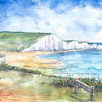 The Seven Sisters, Sussex UK   15 in. x 22 in. - 38 x 28 cm - 420,00 Euro