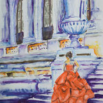 The Red Dress 15 in. x 22 in. - 42 x 56 cm - 560,00 Euro