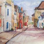 Une rue en Saint Goustan, 22 in. x 16,5 in. - 56 cm x 42 cm - 540,00 Euro