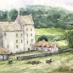 Lallybroch, Midhope Castle 12 in. x 18 in. - 30,5 x 45,5 cm - 760,00 Euro