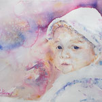 Sweet Blueberry Eyes  15 in. x 11 in. - 38 x 28 cm - 360,00 Euro