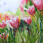 Tulips Garden 18 in. x 12 in. - 30,5 x 45,5 cm - 240,00 Euro