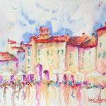Piazza Dell'Anfiteatro - Lucca, 15 x 11 inch. - 38 x 28 cm - 420,00 Euro