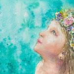 Midsommar Flicka - Midsummer Girl - 38 x 28 cm - 420,00 Euro