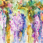 Wisteria - Curtains of Fragrance and Color -  6,7 in. x 9,4 in. - 24 x 17 cm - 160,00  Euro