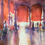 Venice Fish Market, 14 in. x 20 in. - 36x 51 cm - sold -