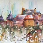 Le chateau du Bouchet,  28 cm x 38 cm - 11 in. x 15 in. - 380,00 Euro