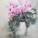 Pretty in Pink - 12 in. x 16 in. - 31 x 41 cm - 520,00 Euro - sold