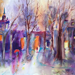 Autumn City, 30 in. x 22 in. - 76 cm x 56 cm - 840,00 Euro