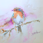 Dear Robin Redbreast 16 in. x 14,5 in. - 41 x 37 cm - 380,00 Euro - SOLD