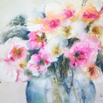 January Bouquet  16 in. x 12 in. - 41 x 31 cm - 280,00  Euro