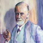 Posing like Sigmund Freud 22  X 15 inch - 56 x 38 cm - 820,00 Euro