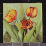Tulipe toile carré 20x20