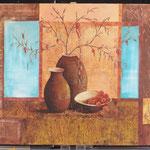 """""""Les pots"""" Acrylique sur toile coton 100x80"""