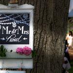 Hochzeitstafel, Hochzeitsschild, Wegweiser