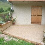 Terrasse et jardinière