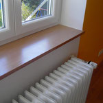 Innenausbau Fensterbank Buche Multiplex lackiert