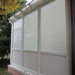 Pergola Seitenverglasung als Sichtschutz mit Vsg Glas