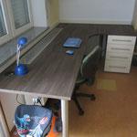 Schreibtischplatte Queransicht
