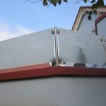 Terassenbrüstungssichtschutz mit Vsg / Mattglas