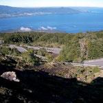 Asphaltierte Zufahrten wie zur Sesselbahnstation des Vulkans Osorno, sind selten