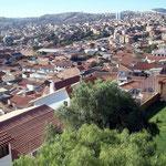 Sucre mit vielen Kolonialbauten, die Hauptstadt von Bolivien