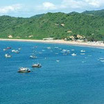Sicht vom Camping Islamar in Salango bei Puerto Lopez