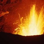 Der Vulkan Villarrica im Innern. Von Hans Saler aufgenommenes Bild