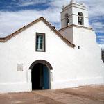 Die Kirche von San Pedro de Atacama.
