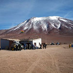 Das bolivianische Grenzgebäude beim Paso Jama auf 4300m.