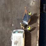 Entsorgung des getrennten Abfalls in Dakar. Hier wurden die Säcke nach Bedürfnissen der Arbeiter nochmals aussortiert