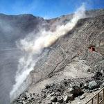Die Kupfermine ist 1250m tief.