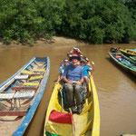Die dreistündige Fahrt im Boot zur Lodge war sehr angenehm, völlig staubfrei