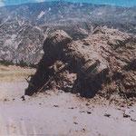Nach dem Erdrutsch in Yungay der 1970 durch ein Erdbeben ausgelöst wurde