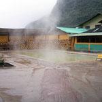 Bei 14 Grad war ein Besuch im Thermalbad das Richtige