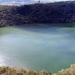 Laguna de Gautavita, durch einen Meteoriteneinschlag entstanden