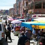 El Alto, da mussten wir durchfahren, Wir brauchten 15 Min. für 200m